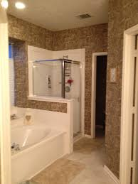 Wallpaper Designs For Bathrooms by Master Bathroom Wallpaper Help Vinyl Paint Sand Color Home