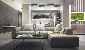 Grey Living Rooms With Brown Furniture Inspiring Examples Of Use Of Gray In Luxurious Inside Design