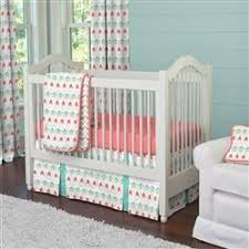 Teal Bed Set Coral And Teal Arrow Crib Bedding Carousel Designs