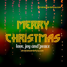 merry and peace christian cards for you