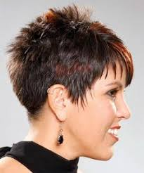 side view of blended wedge haircut photos of short haircuts for older women short spiky hairstyles