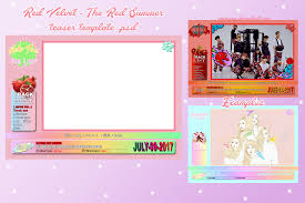 red velvet the red summer teaser template psd by jaemjaem on