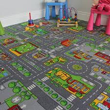children u0027s play village mat town city roads area rug 200cm x 200cm
