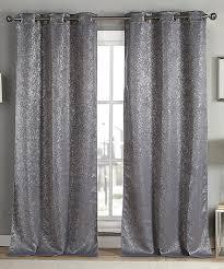 Grey Metallic Curtains This Gray Metallic Maddie Blackout Curtain Panel Set Of Two Is