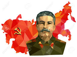 Ussr Map Soviet Union Ussr Map With Flag Portrait Of Stalin Isolated