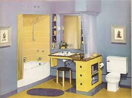 blue and yellow bathroom ideas 110 best 1940s bathroom images on 1940s mid century