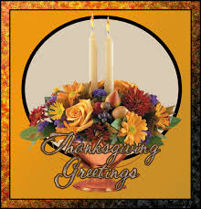 thanksgiving greetings floral with candles animated gif 9017