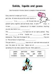 solids liquids and gases lesson plans u0026 worksheets