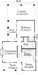 House Plans With Carport Cottage Style House Plan 1 Beds 1 00 Baths 852 Sq Ft Plan 406 215