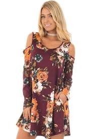 cold shoulder dress burgundy floral cold shoulder dress with sleeves lime lush