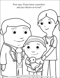 coloring page doctor and nurse