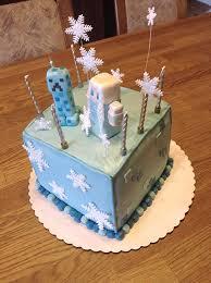 minecraft u0027s frozen themed birthday cake precisely housewifely