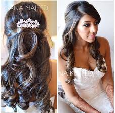 pictures of women over comb hairstyle half up half down hairstyle curls bridal hair comb hair