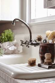 kitchen bridge kitchen faucet cross handles painted wooden