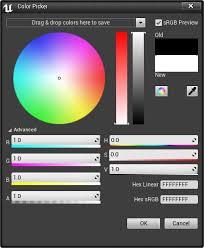 color picker unreal engine