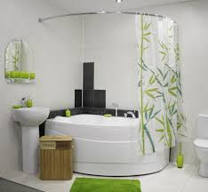 Unique Bathroom Accessories Lime Green Accents Curtain For Small - Bathroom accessories design ideas