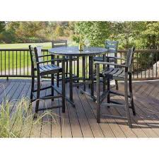 Patio Furniture Bar Bar Height Dining Sets Outdoor Bar Furniture The Home Depot