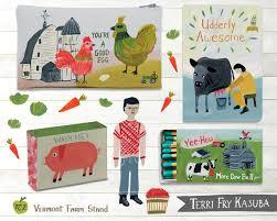 Global Home Decor Terri Fry Kasuba Illustration Vermont Farm Stand Gift And Home Decor