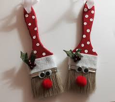 santa paint brush ornament
