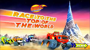 monster trucks for kids blaze blaze race to the top of the world new game video dailymotion