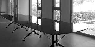 Black Boardroom Table Contemporary Boardroom Table Metal Rectangular Curved