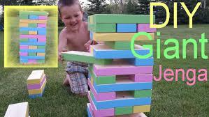 diy giant jenga game youtube