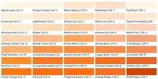 shades of orange names shades of orange list of colors with color names shades nightclub