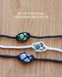 made bracelet images Diy netted stone macrame friendship bracelet tutorial from curly jpg