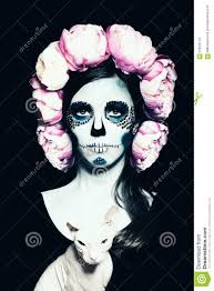 halloween woman with sugar skull makeup stock photo image 61819174