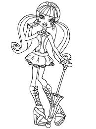 draculaura monster coloring pages haunted halloween