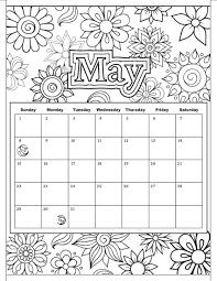 calendar coloring pages glum me