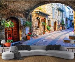online buy wholesale 3d wall murals europe street from china 3d
