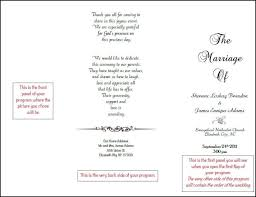 tea length wedding programs bookfold wedding program back side tea length tri fold