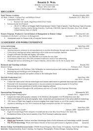 Extra Curricular For Resume Resume U2014 Branick Weix