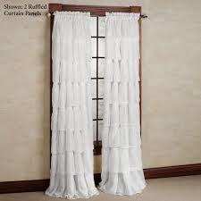 Pink Ruffle Curtains Panels by Furniture White Sheer Voile Ruffled Curtain Panels For Modern