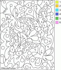 colour number difficult coloring pages kids