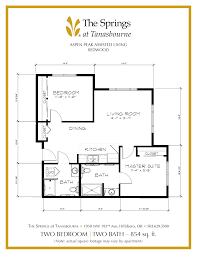 senior apartment floor plans the springs at tanasbourne