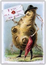 new year s cards this potato mutant is here to wish you a horrifying new year