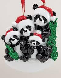 panda family 4 personalised ornament the ornament