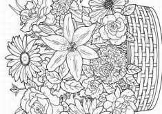 interesting spring coloring pages for adults 16 remarkable ideas