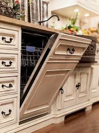 cream cabinets dark counters and knobs oak floors love