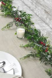 Outdoor Christmas Garland by Outdoor Snowy Pine U0026 Berry Christmas Garland