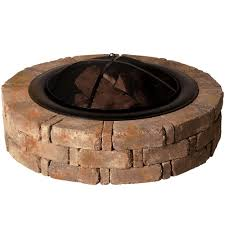 fireplace rock fire pits backyard landscaping with fire pit
