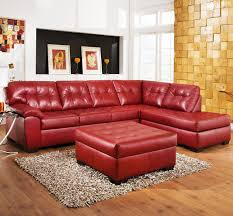 Tufted Sectional With Chaise 6 Red Sectional Sofas Upholstery Shades For The Fearless