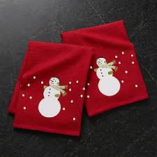 Christmas Towels Bathroom Kitchen Linens Dish Towels And Aprons Crate And Barrel