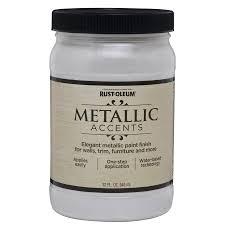 Water Based Interior Paint Shop Rust Oleum Metallic Accents White Pearl Metallic Gloss