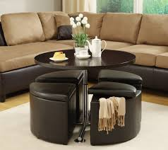 leather ottoman round coffee table leather ottomans coffee table storage club furniture