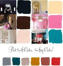 paint colors like bubblegum pink teal peach and chocolate