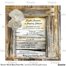 rustic wood barn post wedding invitation rustic wood posts and