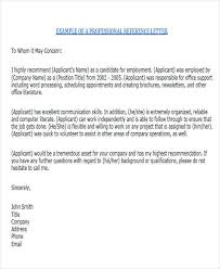 6 sample colleague recommendation letter free sample example
